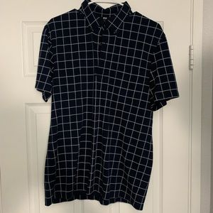 Uniqlo Navy and White Lines Half Bottoms